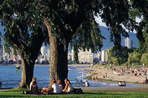 Vancouver is surrounded by numerous beaches